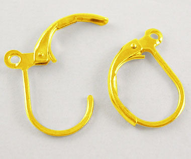 Gold Colour Lever Back Earrings