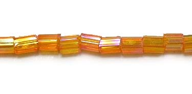 Glass Seed Beads, 11/0, Trans. Rainbow Orange