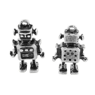 Antique Silver Robot Charm