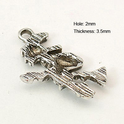 Antique Silver Witch Charm