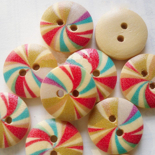Wooden Buttons 15mm