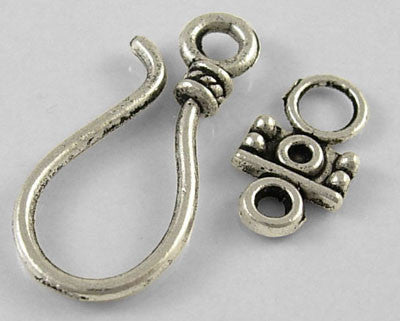 Antique Silver Hook and Eye Clasps