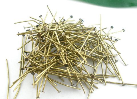 Antique Bronze Head Pins 5mm
