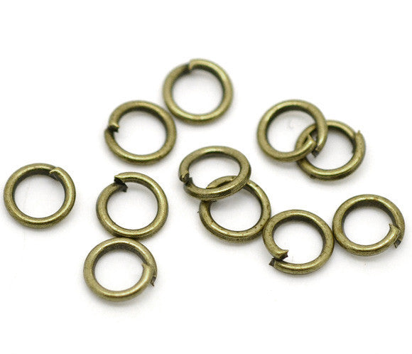 6mm antique bronze jump rings