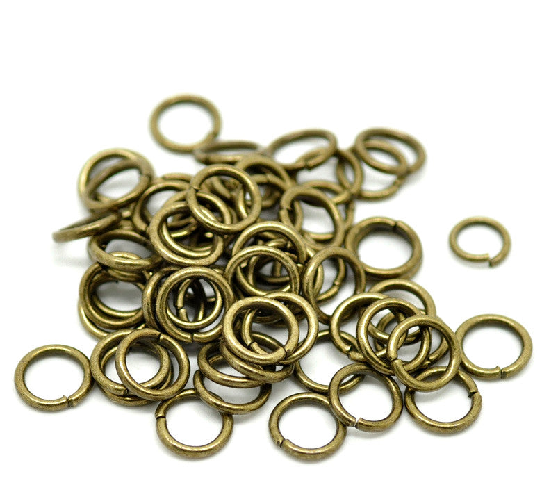 10mm Antique Bronze Jump Riings