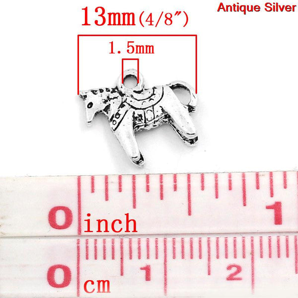 Antique Silver Horse Charm