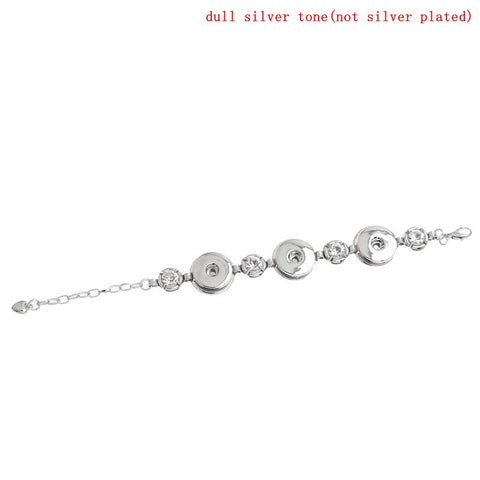 Silver Coloured Popper Bracelet