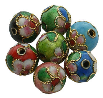 8mm Cloisonne Beads