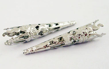 Silver Coloured Bead Cones