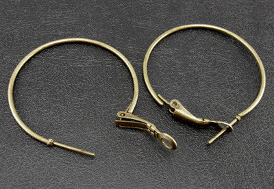 Antique Bronze Hoop Earrings