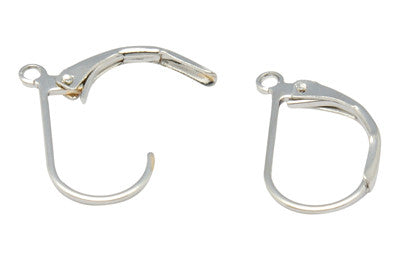 Silver Colour Lever back earrings