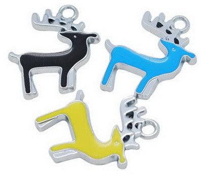 Coloured Deer Charms