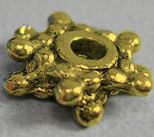 Antique Gold Snowflake Spacers