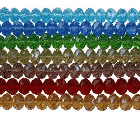 10mm Glass Abacus Beads