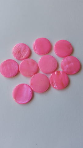 Pink Shell Beads