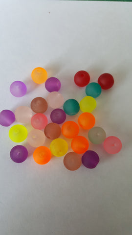 Glass Frosted Beads