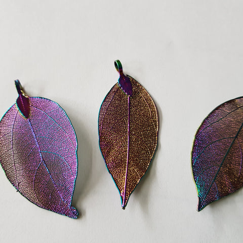 Elecroplated Leaf Pendant
