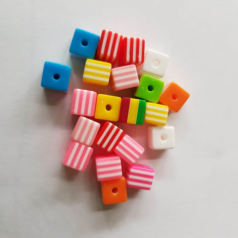 Resin Cube Beads