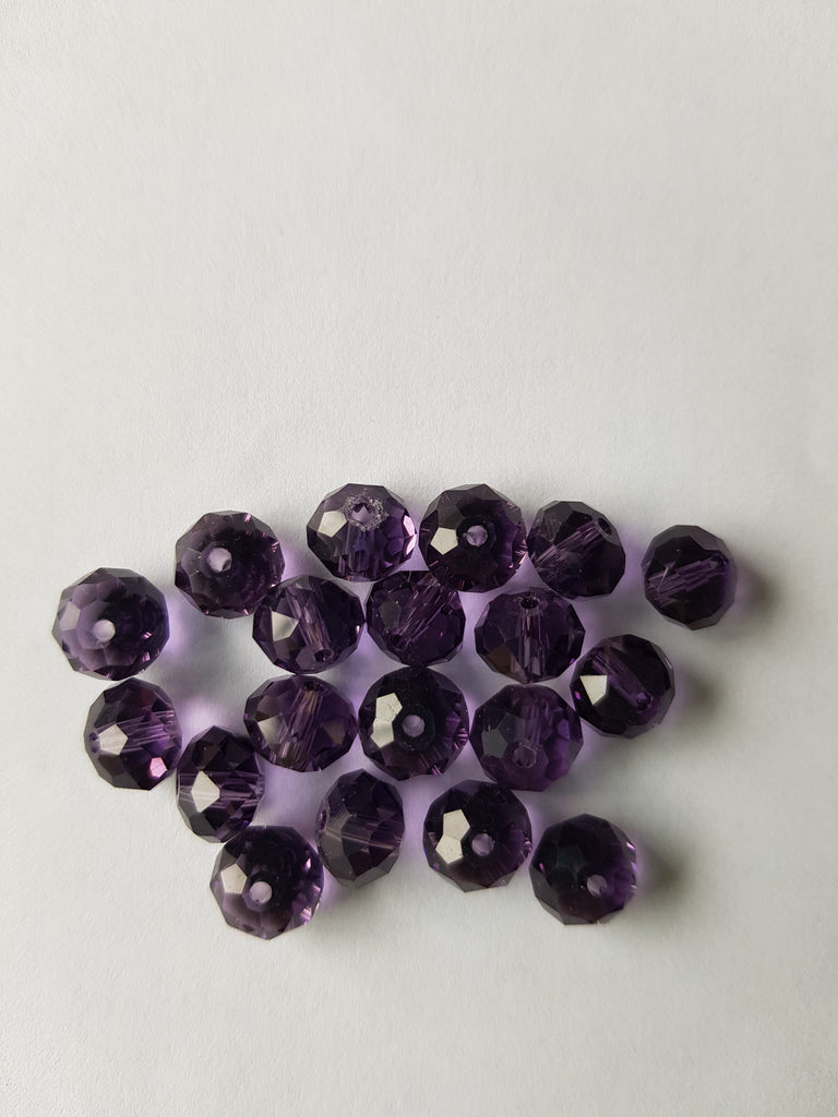 8 x 6mm Crystal Faceted Beads