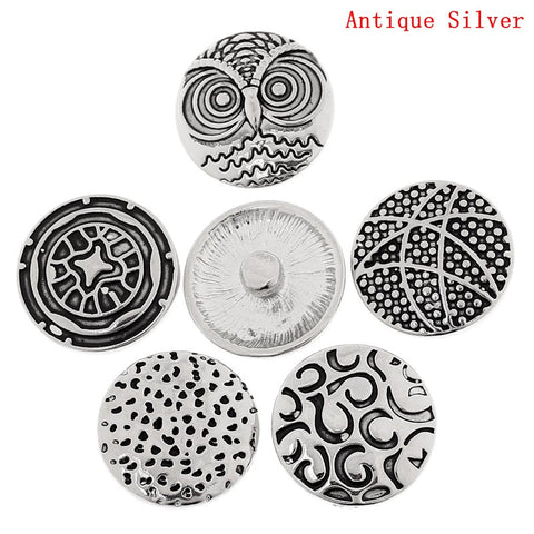 Antique Silver Poppers