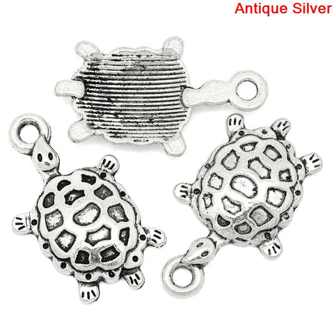 Antique Silver Tortoise Charms
