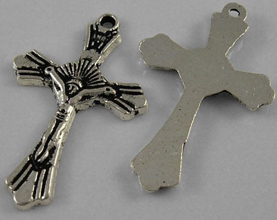 Antique Silver Crucifix