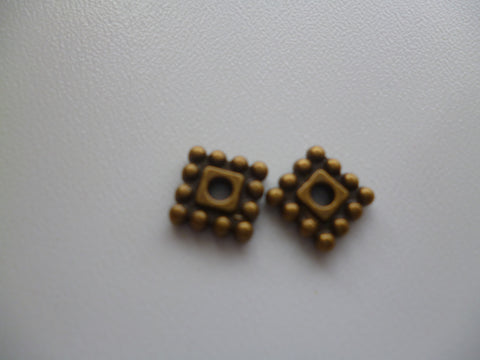 Antique Bronze Square Spacers