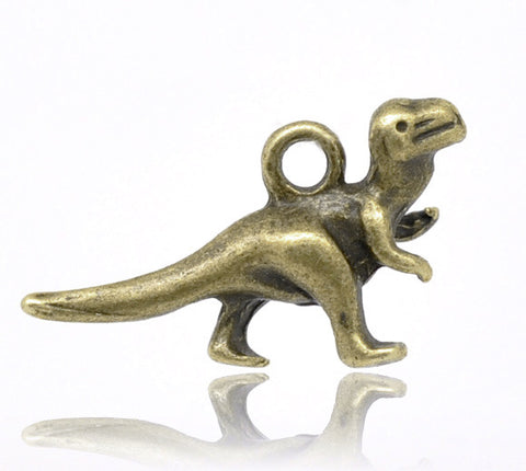 Antique bronze dinosaur charms 22mm