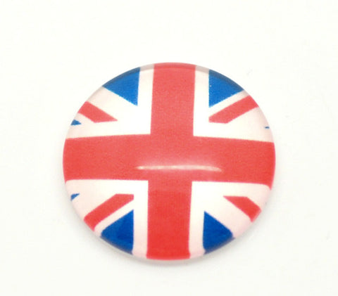 20mm glass cabochon, union jack