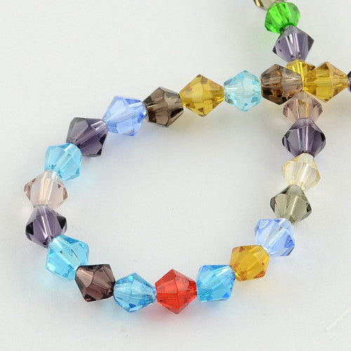 4mm Glass Bicone Beads