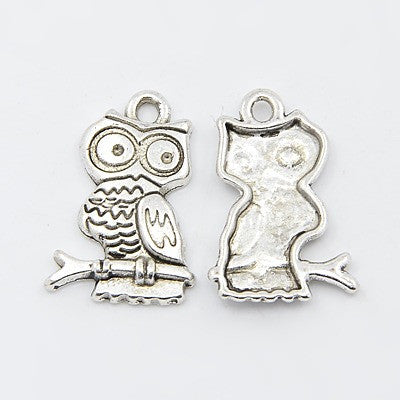 Antique Silver Owl Charms
