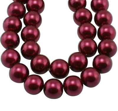 6mm Pearl BURGUNDY