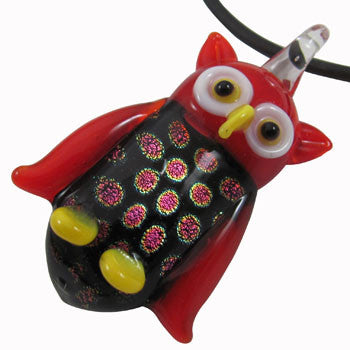 Glass Owl Pendant
