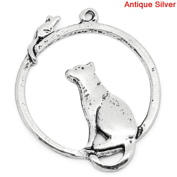 Cat and mouse pendant.