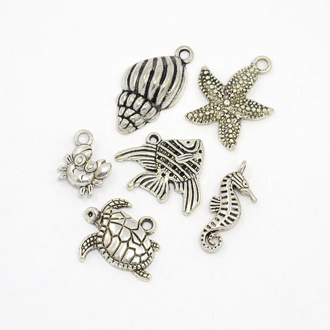 Antique Silver Seaside Charms