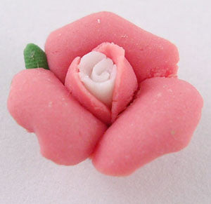 14mm polymer clay flowers, rose pink