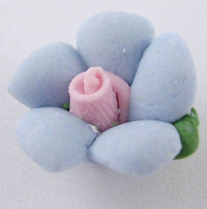 14mm china flowers, Powder Blue