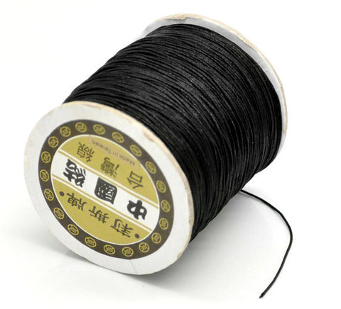 Black Nylon cord 1mm, sold per 5 metres.