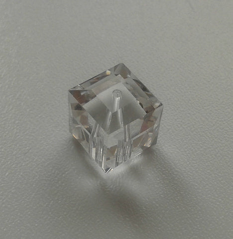 Swarovski Cube Bead 5601 10mm Crystal