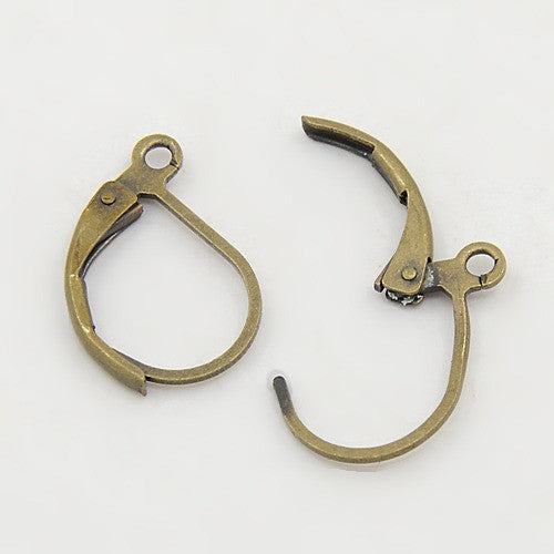 Antique Bronze Lever Back Earrings