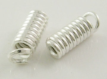Silver crimp ends 8mm