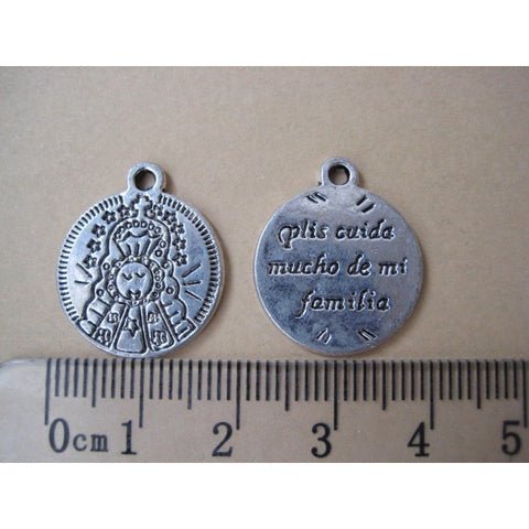 Silver plated Spanish protection charms, 18mm.