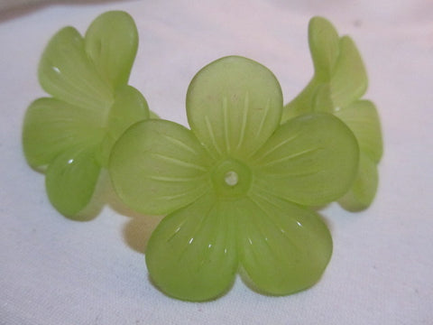 48mm frosted bell flowers, Lime