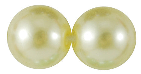 8mm ACRYLIC pearls , pale yellow