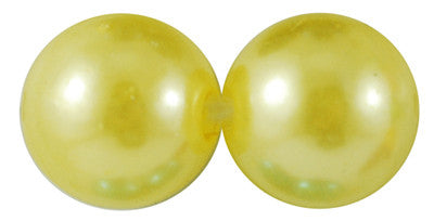 8mm ACRYLIC pearls, yellow