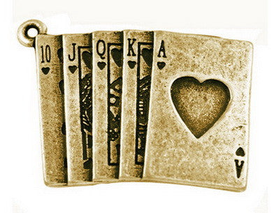 30 x 22mm Antique Bronze card charms