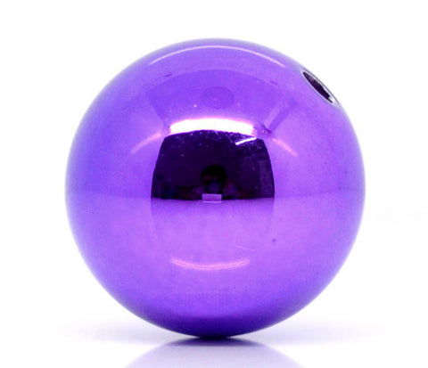 20MM PURPLE ACRYLIC BEADS