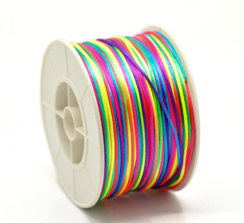 Multi-coloured nylon beading cord.