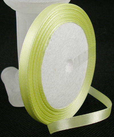 6mm Satin ribbon Light Yellow