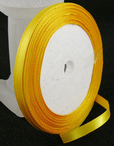 6mm satin ribbon, Golden rod